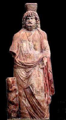 Statua del dio Giove-Serapide con la testa coronata