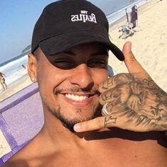 Gorgeous Black Men, Beautiful Men Faces, Pretty Men, Brazilian Men, Mustache Styles, Latino Men, Men Photoshoot, Hommes Sexy, Summer Boy