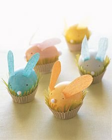 bunnies (crepe paper Easter creations)