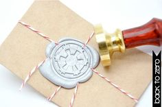 Star Wars Imperial crest Galactic Empire Symbol Gold Plated Wax Seal Stamp x 1
