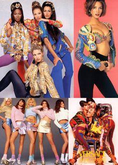 Harvey Nichols loves... old school Versace + 90s supermodels