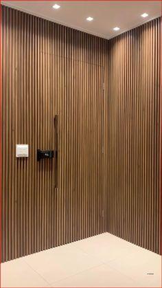 Door Design Interior, Home Room Design, Interior Design Living Room, Living Room Designs, Interior Decorating, Interior Walls, Wooden Wall Design, Wall Panel Design, Wood Slat Wall
