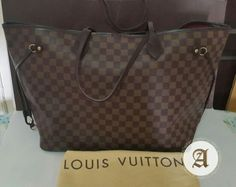 Used Authentic Louis Vuitton Neverfull Damier GM : 🔴SOLD🔴 Like new condition Comes with Dustbag , Paperbag and Free brand new bag organizer Contact : Whatsapp Louis Vuitton Neverfull Damier, Neverfull Gm, Never Full Bag, Dubai Uae, Branded Bags, Bag Organization, New Bag, Luxury Bags, Authentic Louis Vuitton