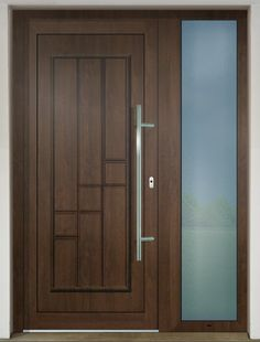 The plastic and aluminium doors manufactured by GAVAplast are characterized with modern design and excellent quality. They are available in numerous wood imitations and colours RAL. Rustic Design, Modern Design, Ral Colours, Aluminium Doors, Shades Of White, Entrance Doors, Tall Cabinet Storage, Stained Glass, Plastic
