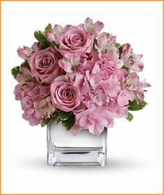 lavender pink centerpiece