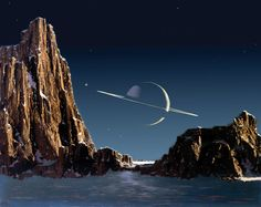 "Chesley Bonestell The ""Father of Modern Space Art"", Chesley Bonestell (1888-1986)- M̲elt"