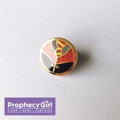 School Daze enamel pin (red) by Prophecy Girl