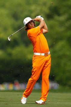 Rickie Fowler wearing his favorite orange outfit