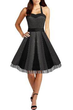 Black Butterfly 'Ivy' 50's Polka Dot Swing Dress (Black - Small White Dots, US 16) Black Butterfly Clothing http://www.amazon.com/dp/B00FA4Z9AW/ref=cm_sw_r_pi_dp_3bAKvb00D7K9P
