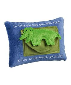 Look what I found on #zulily! Blue Alligator 'In This Pocket You Will Find' Tooth Pillow #zulilyfinds