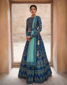 Make a grand entry at the wedding adorning this meticulously handcrafted lehenga ensemble by Vasansi Jaipur. Whatsapp us now for personal shopping experience! Call/WhatsApp for Purchase Inqury : Indian Wedding Gowns, Indian Gowns Dresses, Indian Bridal Outfits, Indian Fashion Dresses, Dress Indian Style, Indian Designer Outfits, Designer Dresses, Wedding Lehnga, India Fashion