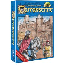 Carcassonne, is a city in southern France famous for unique Roman and medieval fortifications. The object of the Carcassone Game is to develop an area around the walls of the old city. As the tile-laying begins, followers are deployed to surrounding areas to explore roads, fields & nearby cities. 2-5 players ages 8+ match skills to determine who will be victorious in this strategic challenge lasting about 45 minutes.  River Expansion bonus tiles included.  Options: phone apps and online…