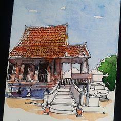 Day 13 - Kampung House  #ramadhansketchchallenge2015 #klsketchnation #johorsketchers #archilovers #arch #architecture #architecturelovers #architectureporn | por Hafizal_Nordin