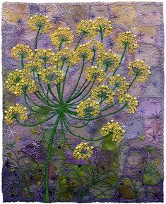 Fennel Blossoms by Kirsten's Fabric Art, via Flickr