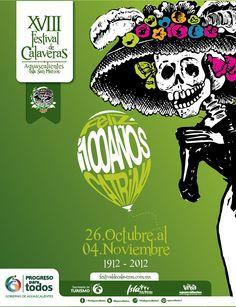 Festival de Calaveras  Isla San Marcos  26 Octubre - 4 Noviembre  Aguascalientes, México