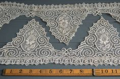Stunning antique Brussels lace edging 62 by McBurneyandBlack