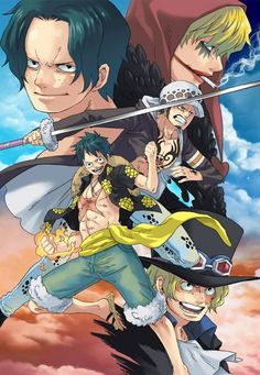 Ace, Luffy, Corazon, Law and Sabo