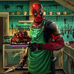 Deadpool bake a cake! but what cake??