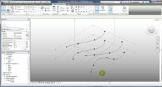 Autodesk Revit 2013 Conceptual Mass Tutorial for Repeating an Adaptive Component along several splines. Learn Revit, Alex Box, Revit Architecture, Rhinoceros, Science, Learning, Design, Building Information Modeling, Studying