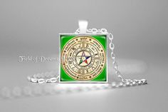 WICCAN PENTAGRAM PENDANT Pentagram Jewelry Wicca Gift Purple Wicca Pagan Religion Wiccan Wheel Celtic Wheel Zodiac Green Elemental Pentacle by FieldOfDreamsJewelry on Etsy