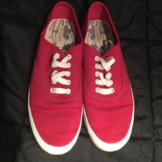 City Sneaks shoes Red city sneaks shoes. Vans look alike. Worn a few times but still in good condition. No rips, stains, or holes, just a little dirt on the bottom from when they were worn. City Sneaks Shoes Sneakers