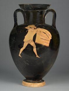 Greek warrior Ancient Greek Art, Ancient Greece, Ancient History, Modern Names, Greek Warrior, Black Figure, Getty Museum, Southern Italy, Vase