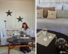 Canapé Ghost dessiné par Paola Navone pour Gervasoni, boutique de décoration 'Maison Hand' à Lyon. Étoiles Amish, stand de Florence Bouvier ...