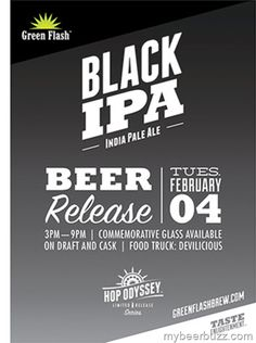 Green Flash - Hop Odyssey Black IPA Coming 2/4