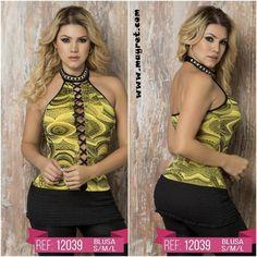 BLUSA COLOMBIANA 12039  ¡OFERTA!  ANTES: 29,99€  AHORA: 20,00€  TALLA: TALLA UNICA, COLOR: AMARILLO  Disponible en nuestra página web www.mayret.com