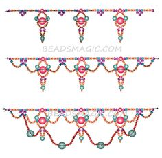 Free pattern for necklace Margo - 2------u need seed beads 11/0 and 6/0, two cut seed beads, pearl beads 4-6 mm and 6-8 mm.