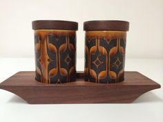 Vintage Hornsea Pottery Heirloom Cruet Set And Stand