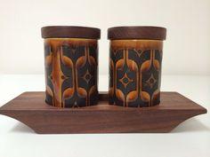 Vintage Hornsea Pottery Heirloom Cruet Set And Stand