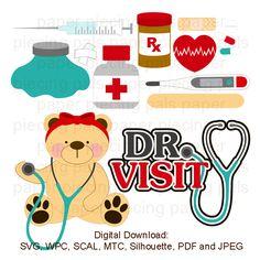 SVG cut file. Dr. Visit