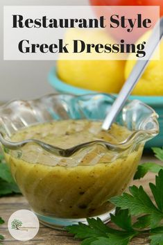"Traditional ""Greek Restaurant"" Salad Dressing - Mediterranean Living Our most popular recipe: Classic Restaurant Style Greek Dressing. Make it in minutes! Mediterranean Salad Dressing, Mediterranean Diet Recipes, Mediterranean Pasta, Greek Salad Recipes, Salad Dressing Recipes, Salad Dressings, Crudite, Greek Restaurants, Classic Restaurant"