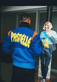 Kanye West Pastelle Varsity Jacket Mens Fashion Streetwear Mens Streetwear Mens Fashion
