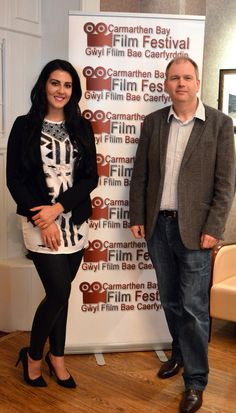 Samira at the Q&A this afternoon at the 2015 Carmarthen Bay Film Festival. Pictured with Festival CEO Kelvin Guy.