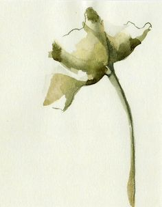 FLOWERS - Drawings with Ink, pencil and acrylic on paper. €20.00, via Etsy.