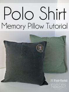 Polo Shirt Memory Pillow Tutorial