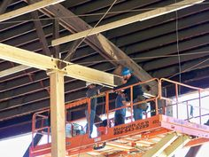 Bowstring Truss Repair By Wooden Roof Structures, Inc ~ Chicago, IL