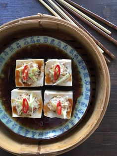 Steamed tofu with sh