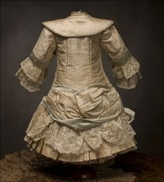 antique bru dress | Antique French Silk Dress fit Jumeau Bru Steiner Doll Antique dolls at ...