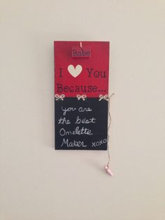 Small Tabletop or hanging I love you because by RockfordRoots