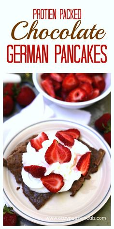 Protein Packed Chocolate German Pancakes - Eazy Peazy Mealz