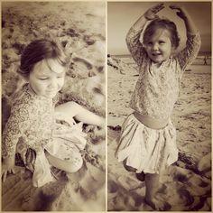 Photoshoot favorites of the upcycled Boho Baby scrap skirts