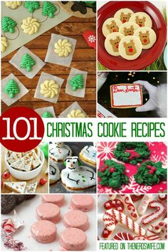 holiday recipes 101 Christmas Cookie Recipes, sorted by type -- everything from Melted Snowman Cookies to Decorated Sugar Cookies to Microwave Gingerbread Men! This is the ultimate list of holiday baking ideas! Christmas Cookie Exchange, Christmas Sugar Cookies, Christmas Sweets, Christmas Cooking, Noel Christmas, Holiday Cookies, Christmas Ideas, Holiday Cookie Recipes, Holiday Desserts