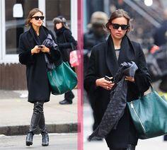 Irina Shayk street style #irinashayk