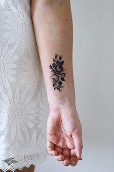 Kleine rose temporäre Tattoo / kleine temporäres tattoo /