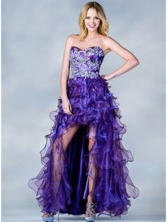 Jeweled Embroider High Low Prom Dress | Sung Boutique L.A.