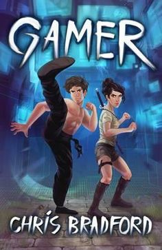 """Exciting dystopian fiction for reluctant readers """"Gamer"""" by Chris Bradford. Published by dyslexia friendly UK publisher Barrington Stoke - this looks like a real book and is an exciting read that higher level readers will want to read too!"""