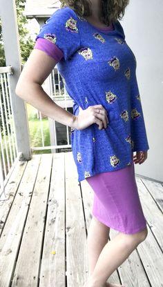 Lularoe Julia under Disney Classic. How to wear. OOTD. Miss Piggy.